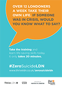 Zero Suicide LDN workplace poster